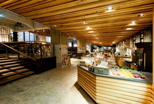 Кофейня Starbucks в стиле банка в Амстердаме