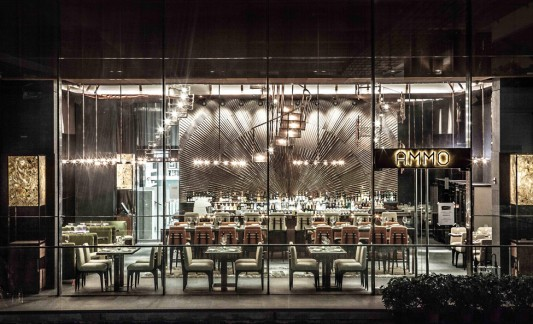 Дизайн интерьера ресторана AMMO в Гонконге от Joyce Wang